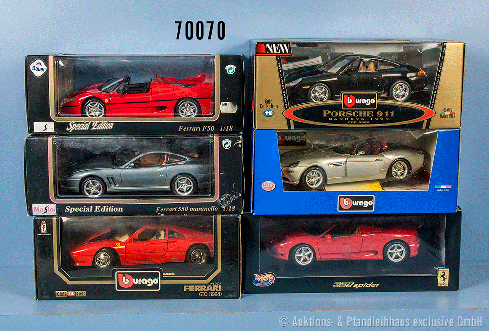 Autos Ferrari gold Racer Serie lose bespielt Hot Wheels  #101